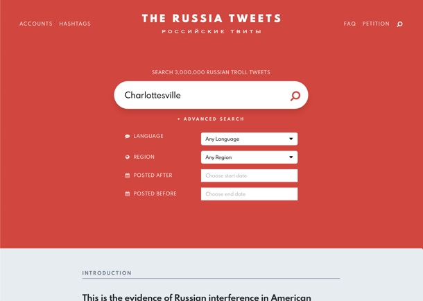 The Russia Tweets Screenshot