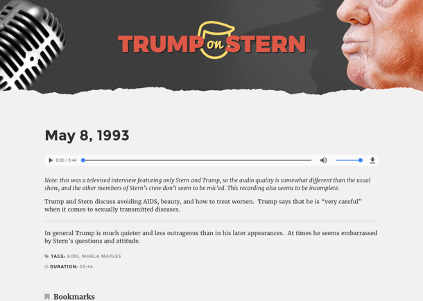 Trump on Stern Screenshot